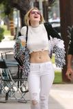 Bella Thorne - White Ripped Jeans Out in North Hollywood   May 8, 2017