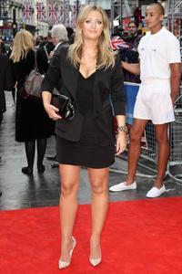 Hayley McQueen In A Little Black Dress