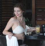 Миша Бартон, фото 10503. Mischa Barton - wearing a bikini top at a beach in Miami 01/02/12, foto 10503